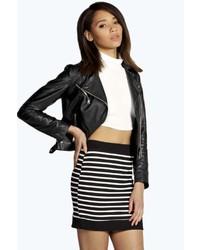 Boohoo Tina Striped Colour Block Mini Skirt
