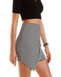 Charlotte Russe Striped Asymmetrical Mini Skirt | Where to buy ...