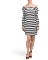 f70ec0cf1296 No Brand Decree Off Shoulder Skater Dress Juniors Out of stock · Made In  Usa Off The Shoulder Striped Dress