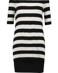 Bailey 44 Off The Shoulder Striped Stretch Jersey Mini Dress