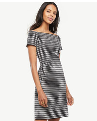 Stripe off the shoulder sheath dress medium 4418197