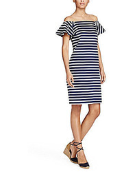 Lauren Ralph Lauren Striped Off The Shoulder Dress