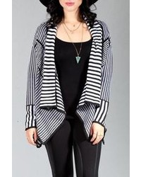Striped open cardigan medium 110867