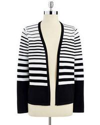 Calvin Klein Striped Open Front Cardigan