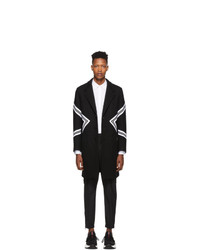 Neil Barrett Black Single Breasted Standard Fit Modernist Coat