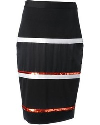 Givenchy Striped Pencil Skirt