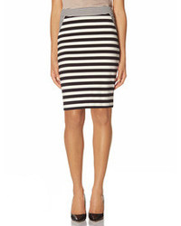 The limited striped ponte pencil skirt medium 87040