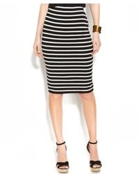 Vince Camuto Pull On Striped Pencil Skirt