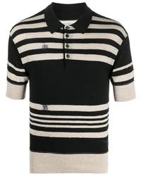 Maison Margiela Stitch Detail Knitted Polo Shirt
