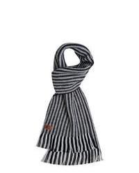 Black and White Horizontal Striped Scarf