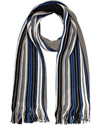 Blue and grey stripe scarf medium 92085
