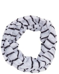 Charlotte Russe Striped Infinity Scarf