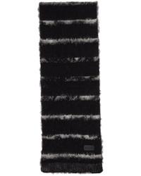 Saint Laurent Wool Mohair Interrupted Stripe Scarf