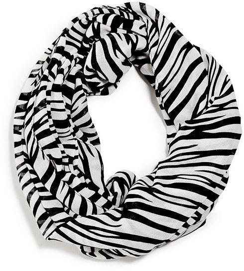 GUESS Zebra Print Infinity Scarf