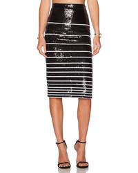 Rue sequin stripe pencil skirt medium 188549