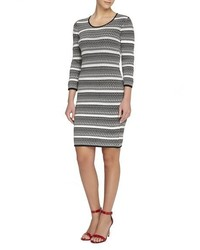 Catherine catherine malandrino miriam pattern stripe sweater dress medium 1251118