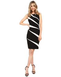 Adrianna Papell Radiating Inserts Crepe Sheath Dress