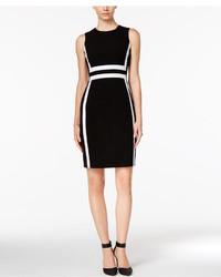 Striped sheath dress medium 1251099
