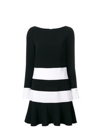 Black and White Horizontal Striped Shift Dress