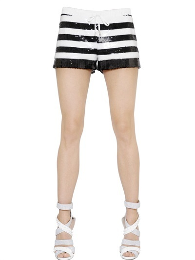 Philipp Plein Sequined Stripe Shorts | Where to buy & how to wear