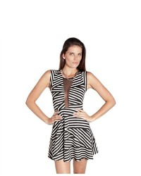 Soho Girl Big Night Out Striped Skater Dress