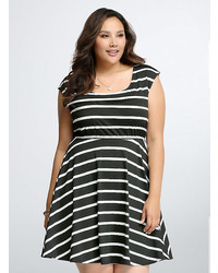 Striped dolman skater dress medium 351858