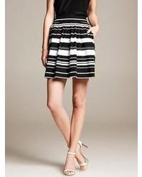 Banana Republic Multi Stripe Pleated Skirt