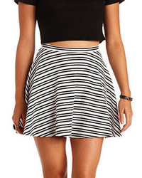 Charlotte russe textured stripe skater skirt medium 106752