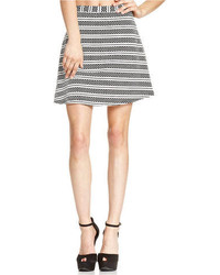 Material girl juniors striped skater skirt medium 106753