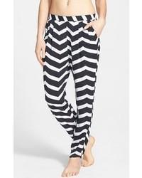Seafolly Ziggie Pleat Pants Black White Small