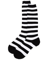 Black and White Horizontal Striped Socks