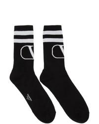 Valentino Black Garavani Vlogo Socks