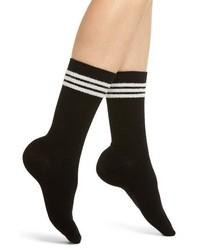 Make + Model Eyelash Stripe Crew Socks