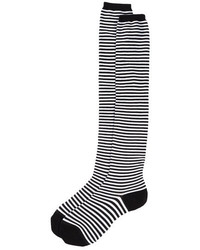 Sock It To Me Striped Knit Over The Knee Socks