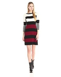 34 sleeve striped sweater dress medium 1346449