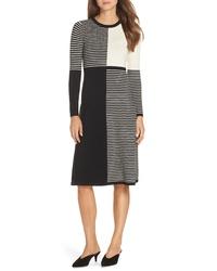 Eliza J D Stripe Midi Sweater Dress