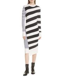 GREY Jason Wu Mixed Stripe Merino Wool Sweater Dress