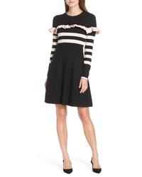 1901 Ruffle Front Sweater Dress