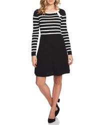 CeCe Stripe A Line Sweater Dress
