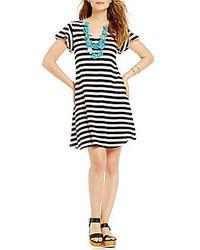 72e2198d5cbd Black and White Horizontal Striped Swing Dresses for Women | Women's ...