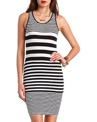 Charlotte Russe Knit Bodycon Striped Dress