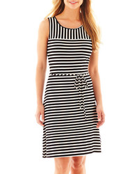Liz Claiborne Sleeveless Striped Dress