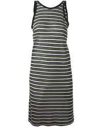 Alexander Wang T By Striped Tank Dress