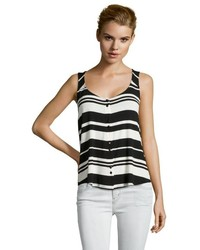Black and White Horizontal Striped Tank