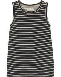 Current/Elliott The Muscle Striped Cotton Jersey Tank