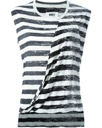 MM6 MAISON MARGIELA Draped Front Striped Tank Top