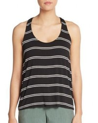Splendid Striped Draped Racerback Tank