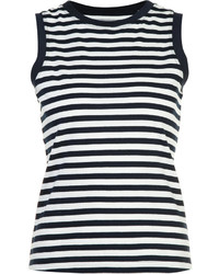 Derek Lam 10 Crosby Striped Print Tank Top