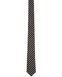 Saint Laurent Black White Stripe Tie