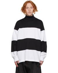 Marni Black White Striped Turtleneck
